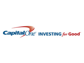 Logo of supporters, Capital One Investing for Good