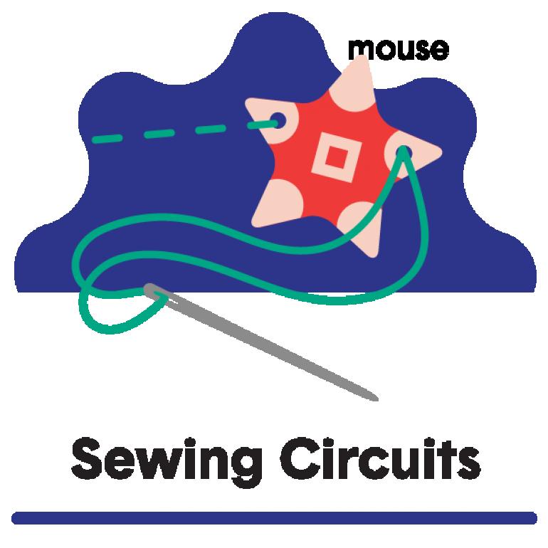 Sewable Tech Badge Sewing Circuits