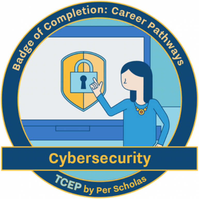 Cybersecurity badge of completion: Career pathways TCEP by Per Scholas