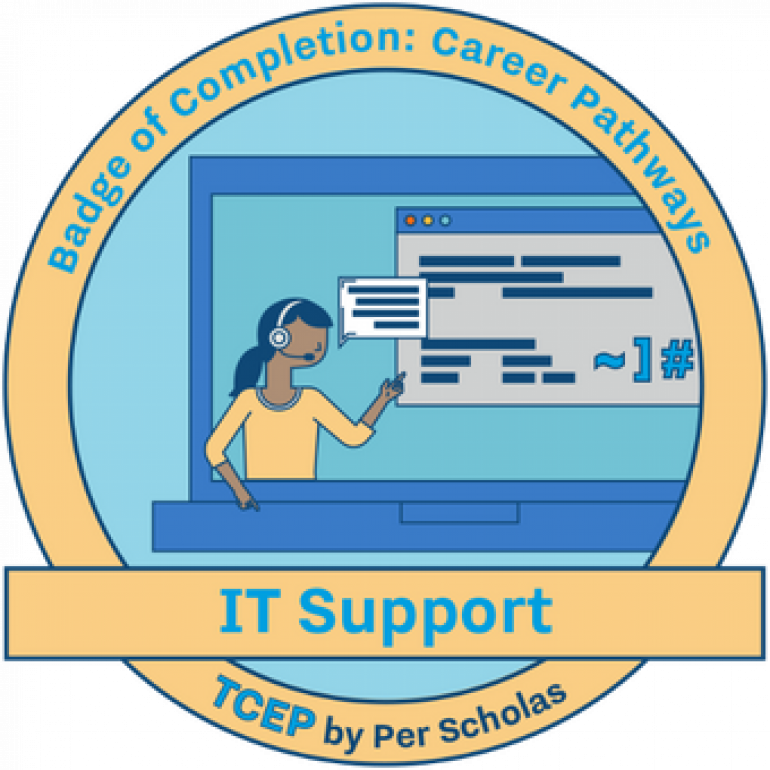 IT Support badge of Completion: Career Pathways TCEP by Per Scholas