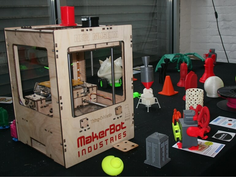MakerBot 3D printer and printed objects